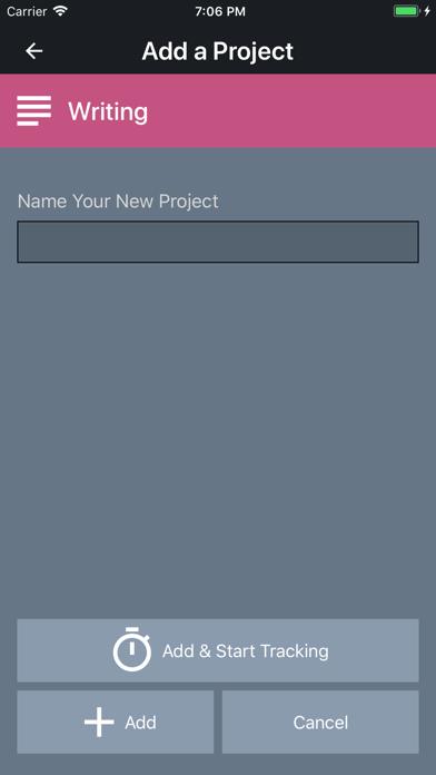 Chott - Hobby Time Tracking screenshot
