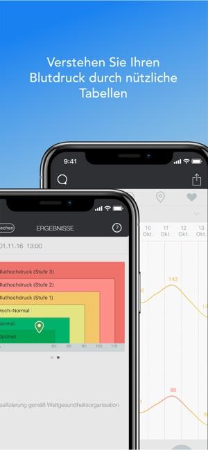 Qardio Herzgesundheits-App Screenshot