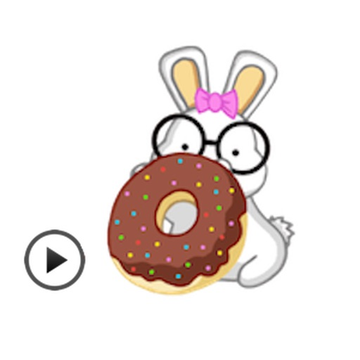 Animated Lovely Rabbit Sticker