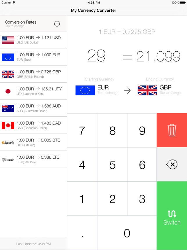 my currency converter rates on the app store rh itunes apple com