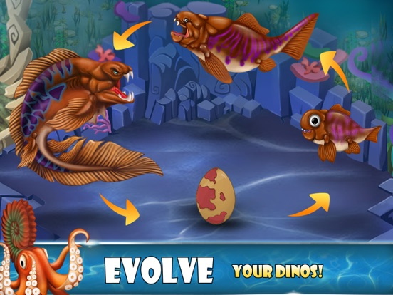 Игра Dino Water World-Dinosaur game