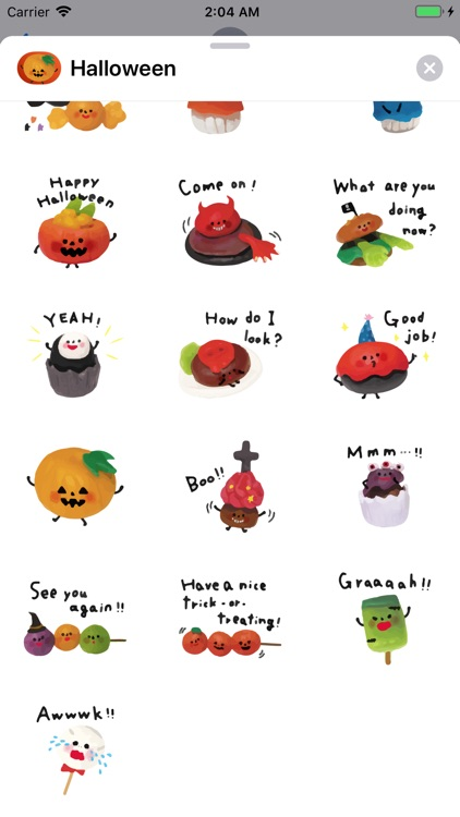 Happy Halloween Boo Emojis App screenshot-3