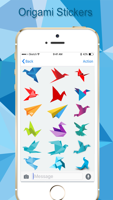 Origami Stickers Pack! screenshot two