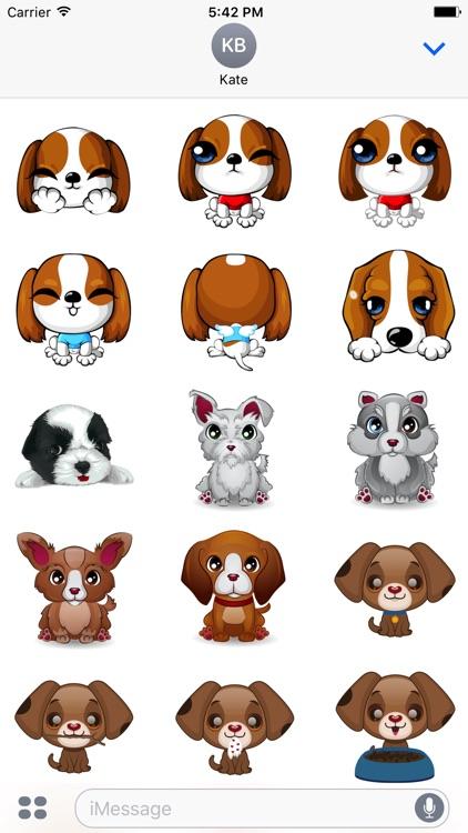 Cute Dog Stickers & Emoji