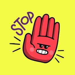Hand Appreciations Sticker Emo