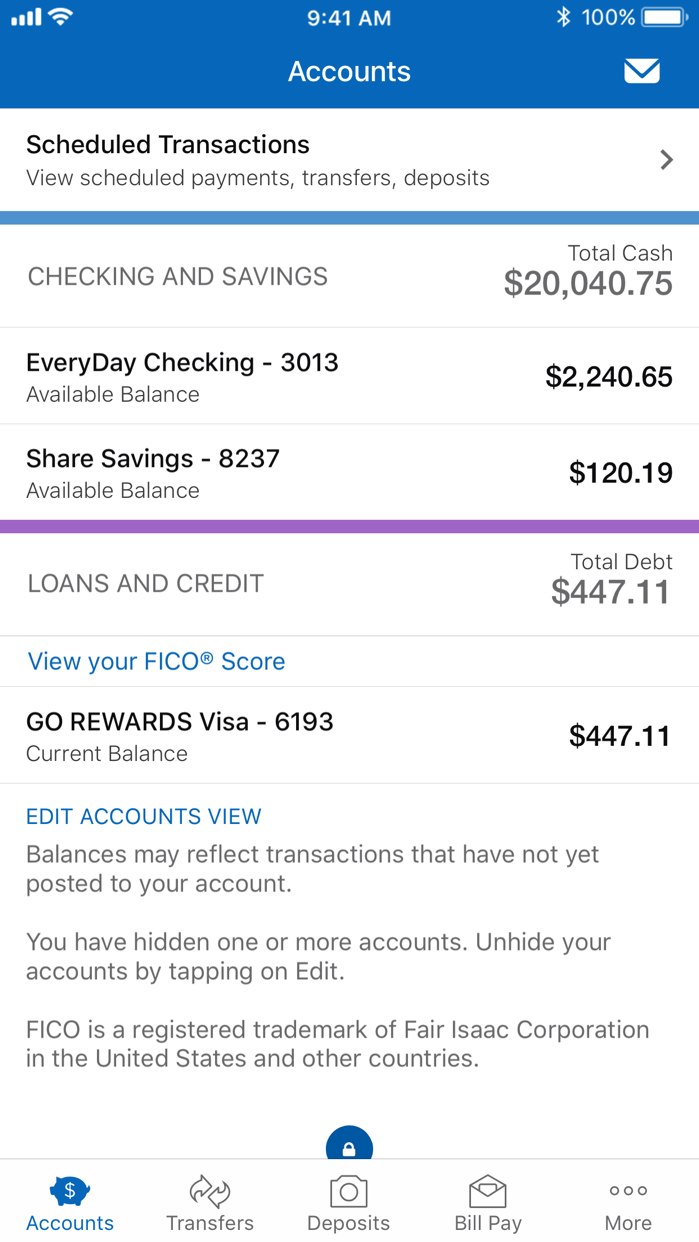 Navy Federal Credit Union Screenshot