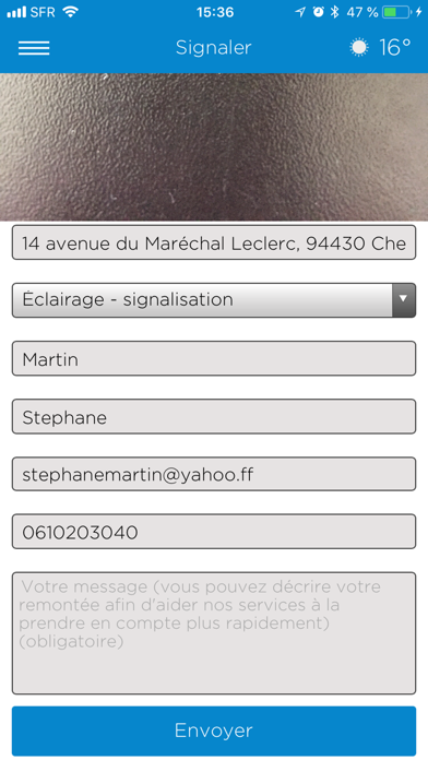 Chennevières Je signale screenshot three