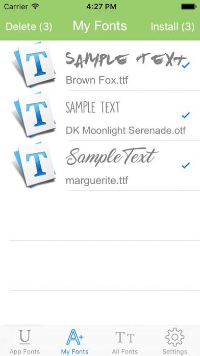 ALLFONTS - Install Any & All New Custom Fonts screenshot one