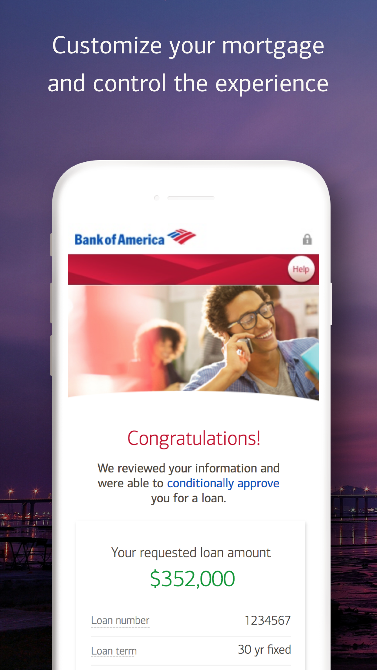 Bank of America Mobile Banking Screenshot