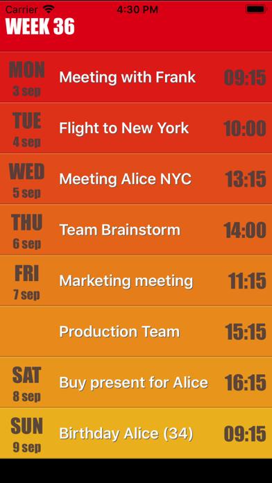 Weekly Calendar Agenda Planner screenshot one