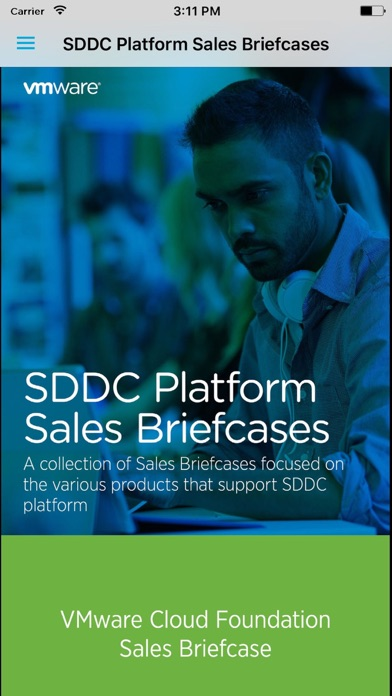 SDDC Platform Sales Briefcase Screenshot
