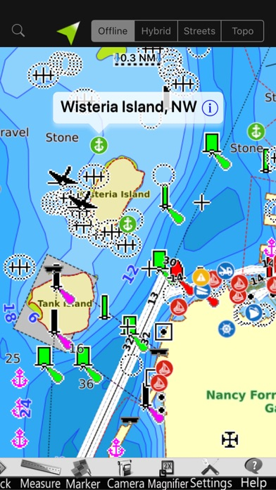 Screenshot of Isola d'Elba GPS Carta Nautica2