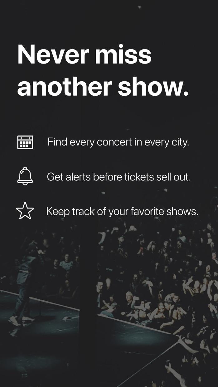 Songkick Concerts Screenshot