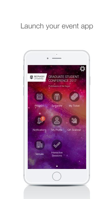 Monash University Events Portal screenshot 2
