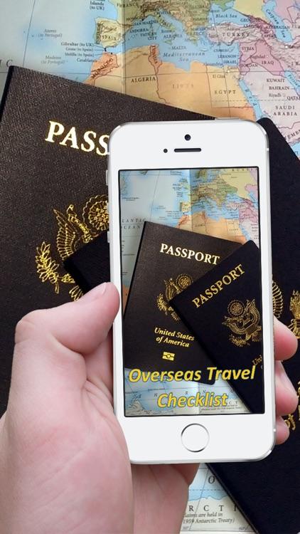 Overseas Travel Checklist