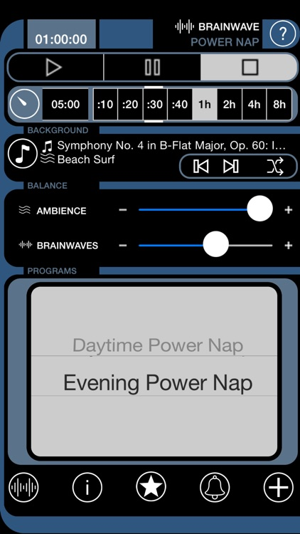 BrainWave Power Nap: 3 Binaural Sleep & Wake Progs screenshot-4