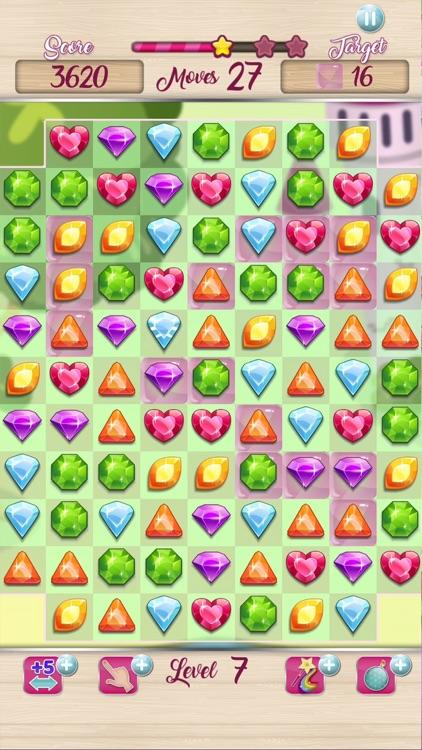Jewels Princess Crush Mania screenshot-4
