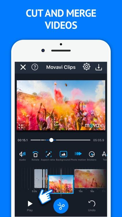 Video Maker Movavi Clips screenshot-0
