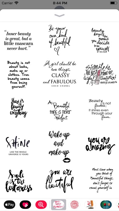 Screenshot for Beauty Love Quote Sticker Pack in Canada App Store