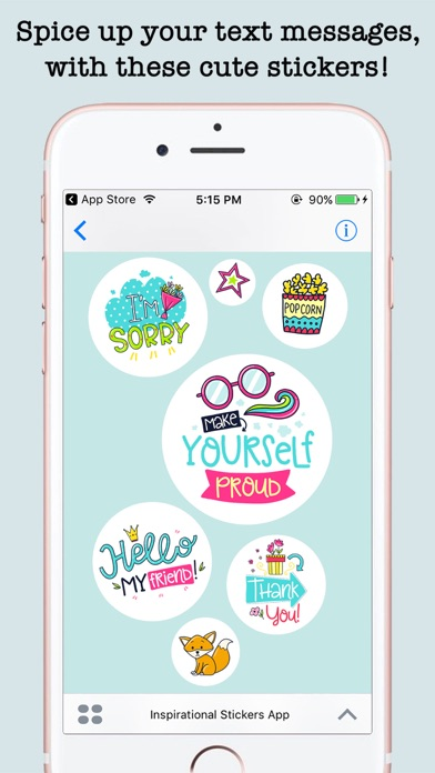 Inspirational Funny Dooodle Quotes & StickersScreenshot of 3