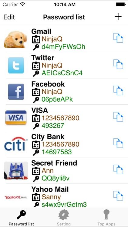 My Password List