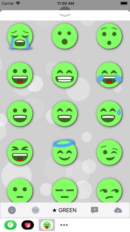 GREEN Emoji • Stickers