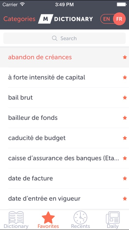 MDictionary Finance Term En-Fr screenshot-3