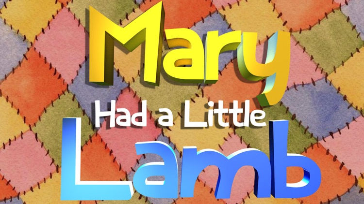 Mary Had A Little Lamb: Preschool Singalong screenshot-0