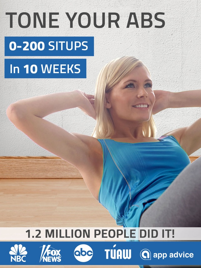 Abs workout: 200 sit ups on the App Store