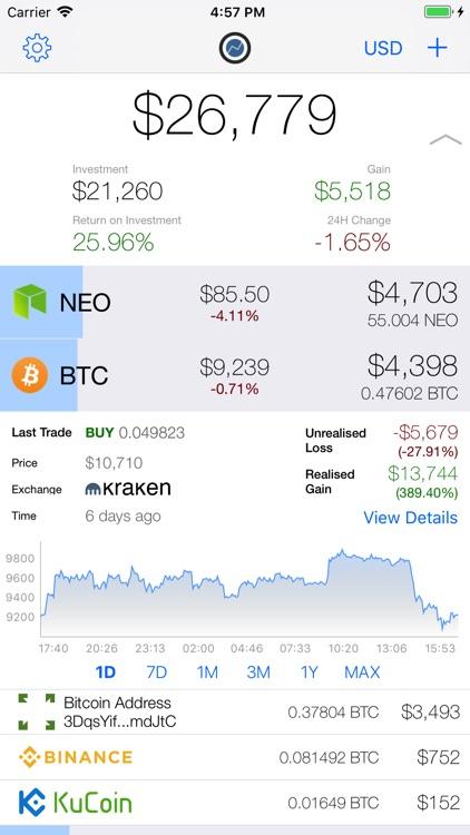 Coinstream - Crypto Portfolio