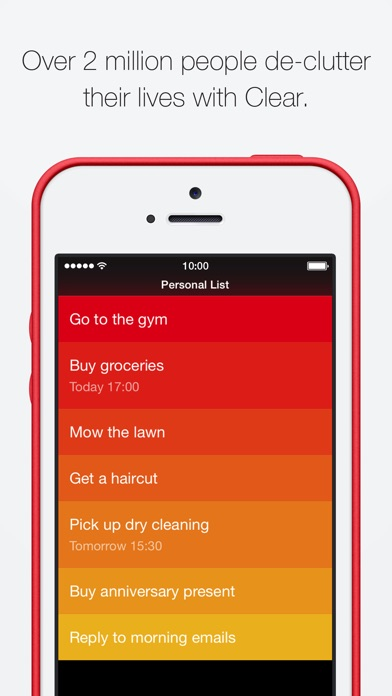 Screenshot for Clear Todos in South Africa App Store