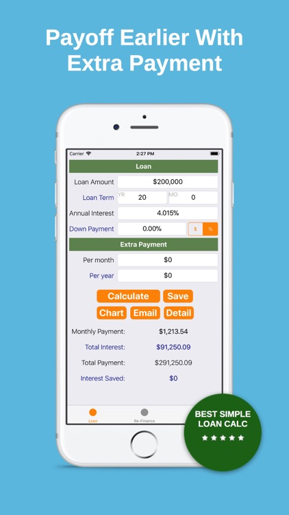 Refinance - Loan Calc Tracker