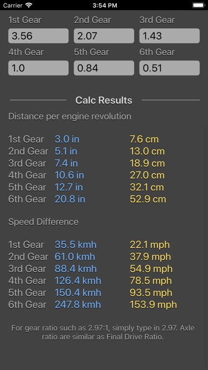 Gear Calculator Plus screenshot-6