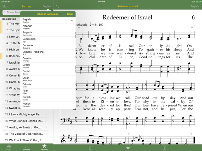lds hymns in spanish