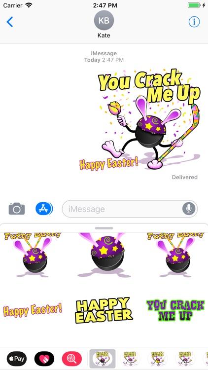 Easter Hockey Stickers screenshot-4