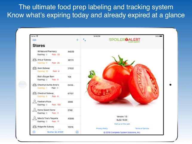 Spoiler Alert! Food Safety - Labeling and Tracking for the Food Industry Image