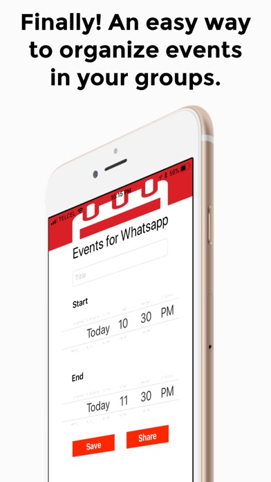 Events for Whatsapp screenshot one