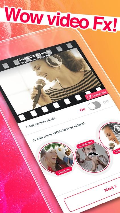 Red Karaoke Sing & Record screenshot-3