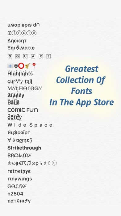 Screenshot for Fonts - for Instagram in United States App Store