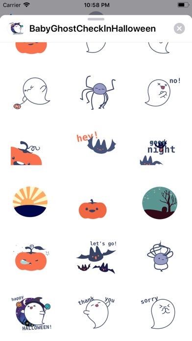 Screenshot of Baby Ghost Check In Halloween App