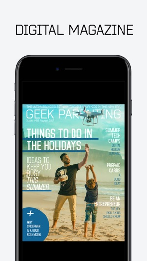 Geek Parenting Magazine-Wired Kids For The Future on the App Store