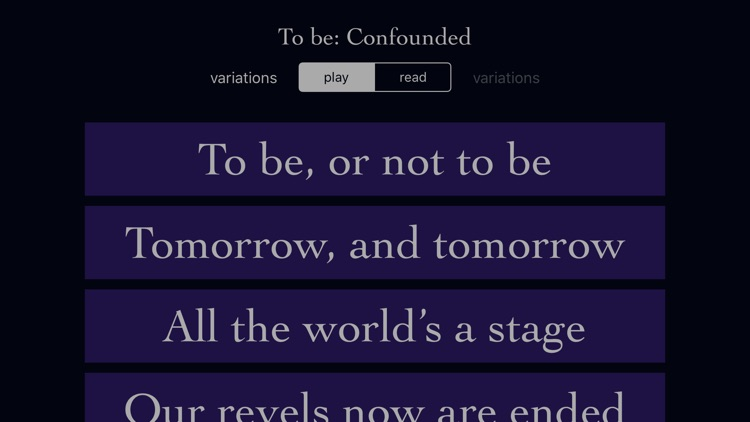 To Be: Confounded