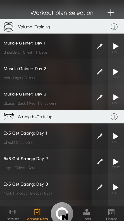 Gymnotize Pro Workout Routines screenshot-1