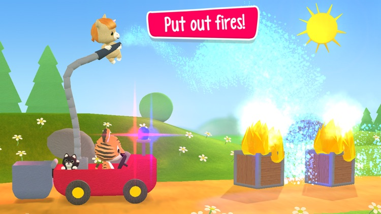 Little Tiger: Toddler's Firefighter & Astronaut screenshot-4