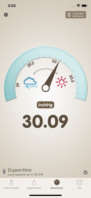 Thermo-hygrometer Screenshot