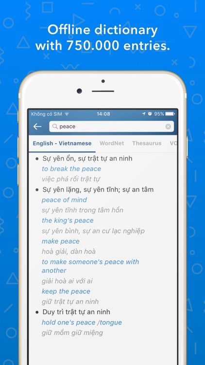 English Vietnamese Dictionary - Tu Dien Anh Viet screenshot-0