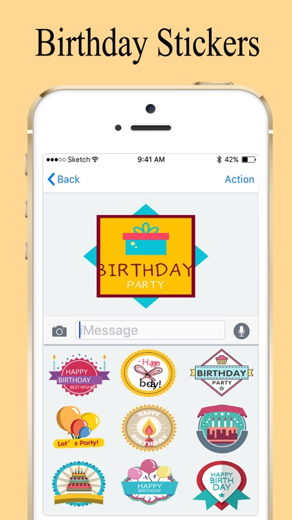 Birthday Wishes Stickers 2018