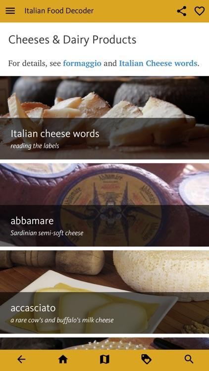 Italian Food Decoder