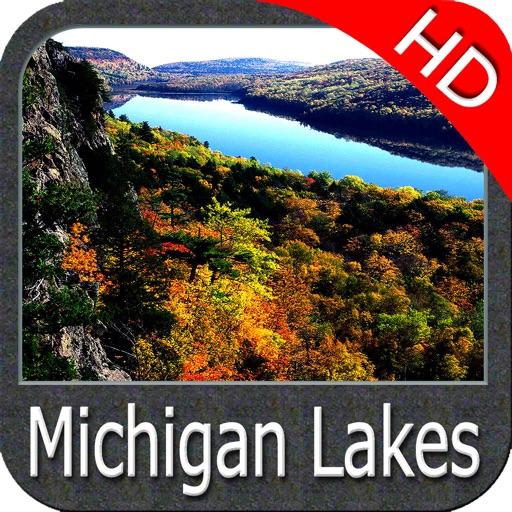 Michigan Lakes HD Fishing Maps