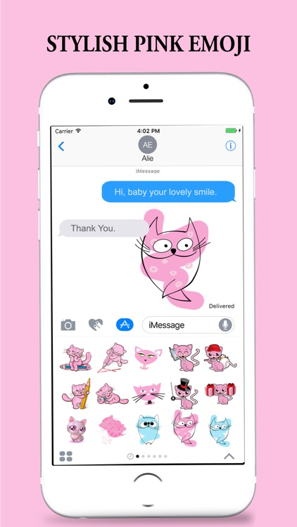 Pink Partner Stickers for iMessages screenshot-4